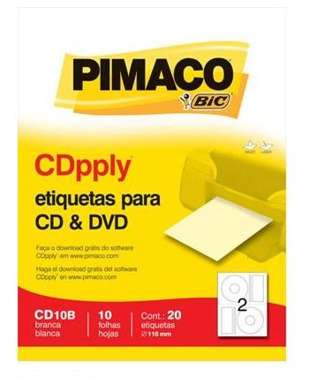 Etiqueta Pimaco CDpply - Etiqueta para CD & DVD
