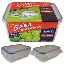 Conjunto 5 Potes Plásticos