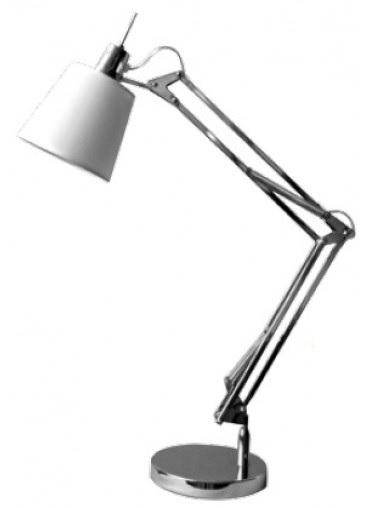 Abajur Articulado Em Metal Cromado
