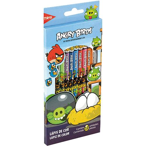 Lápis de cor Angry Birds12 cores