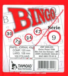Bloco de Bingo de Jornal