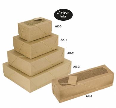 Caixa de Presente Kraft c/ Visor